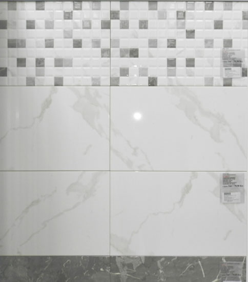 33.3 x 55 Nairobi Blanco 9655 / Mombasa Gris 9575 - Keramičke pločice kupaonske 79,50kn/m²