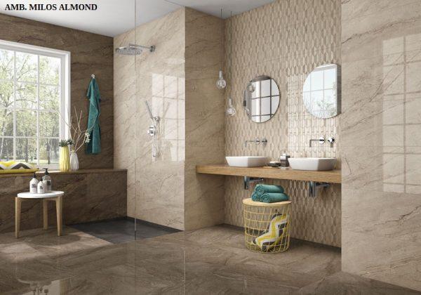 30 x 90 Milos Almond 9396 / Milos Golden 95673 – Keramičke kupaonske pločice