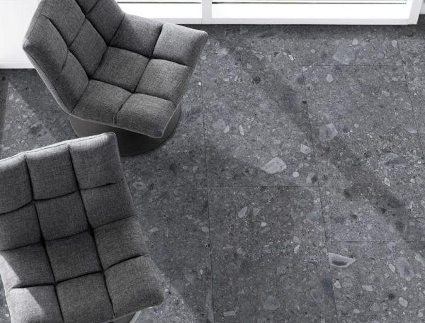 60 x 60 Rett Ceppo Di Ge Anthracite 97839 – Podne pločice gres porculan